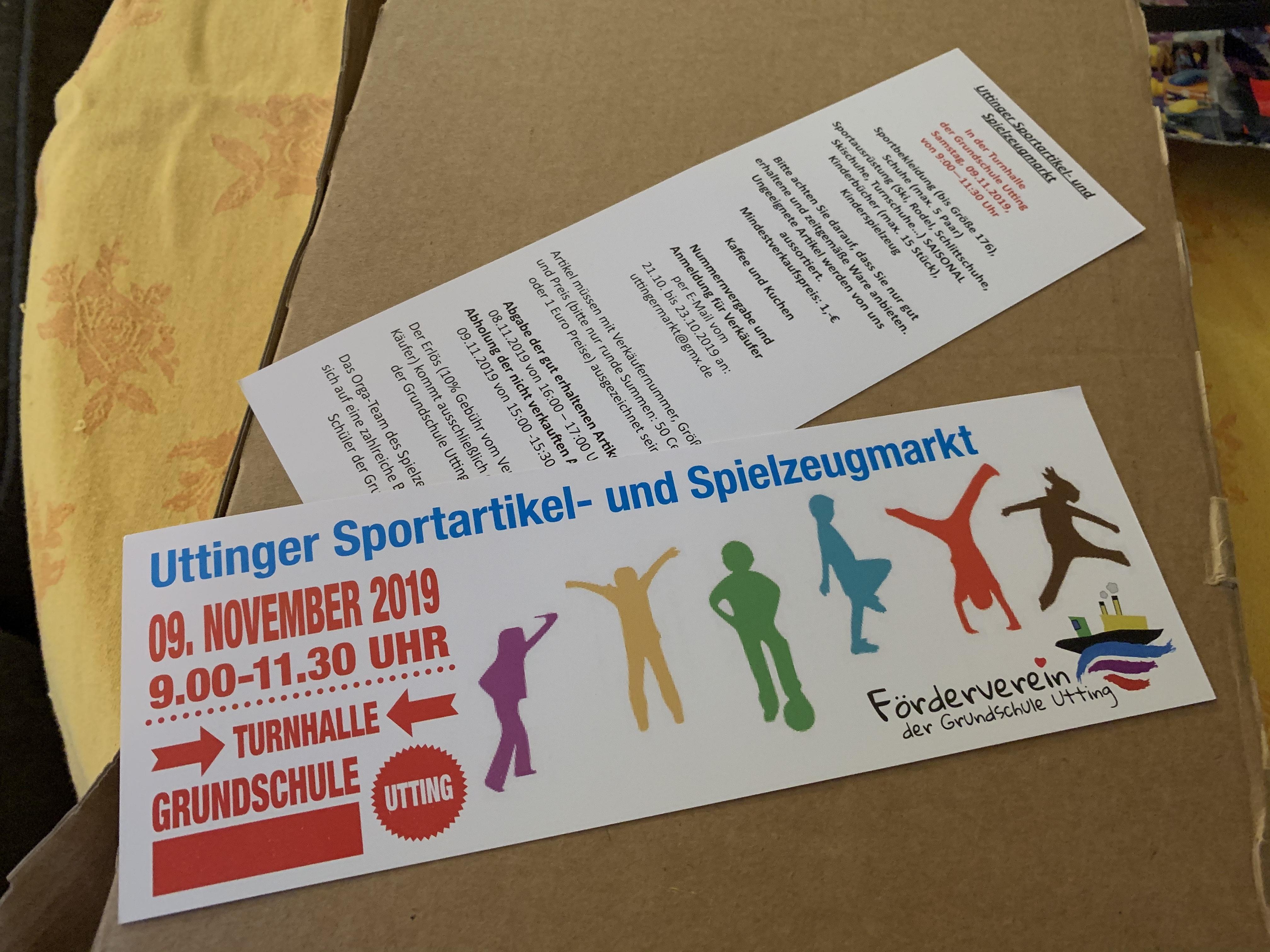 Uttinger Sportartikel-  und Spielzeugmarkt (Herbstmarkt)