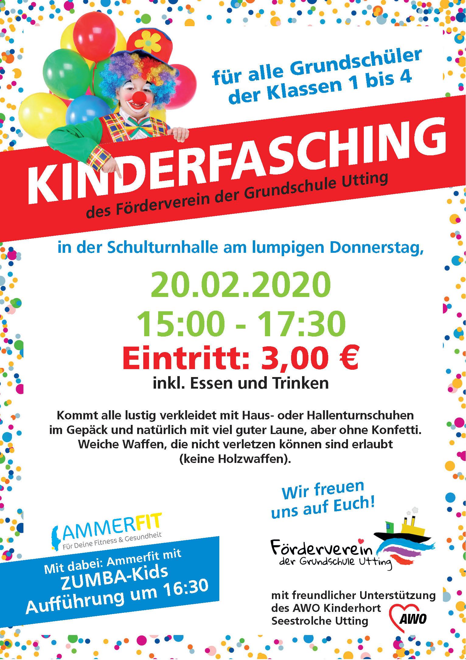 Kinderfasching am 20.02.2020