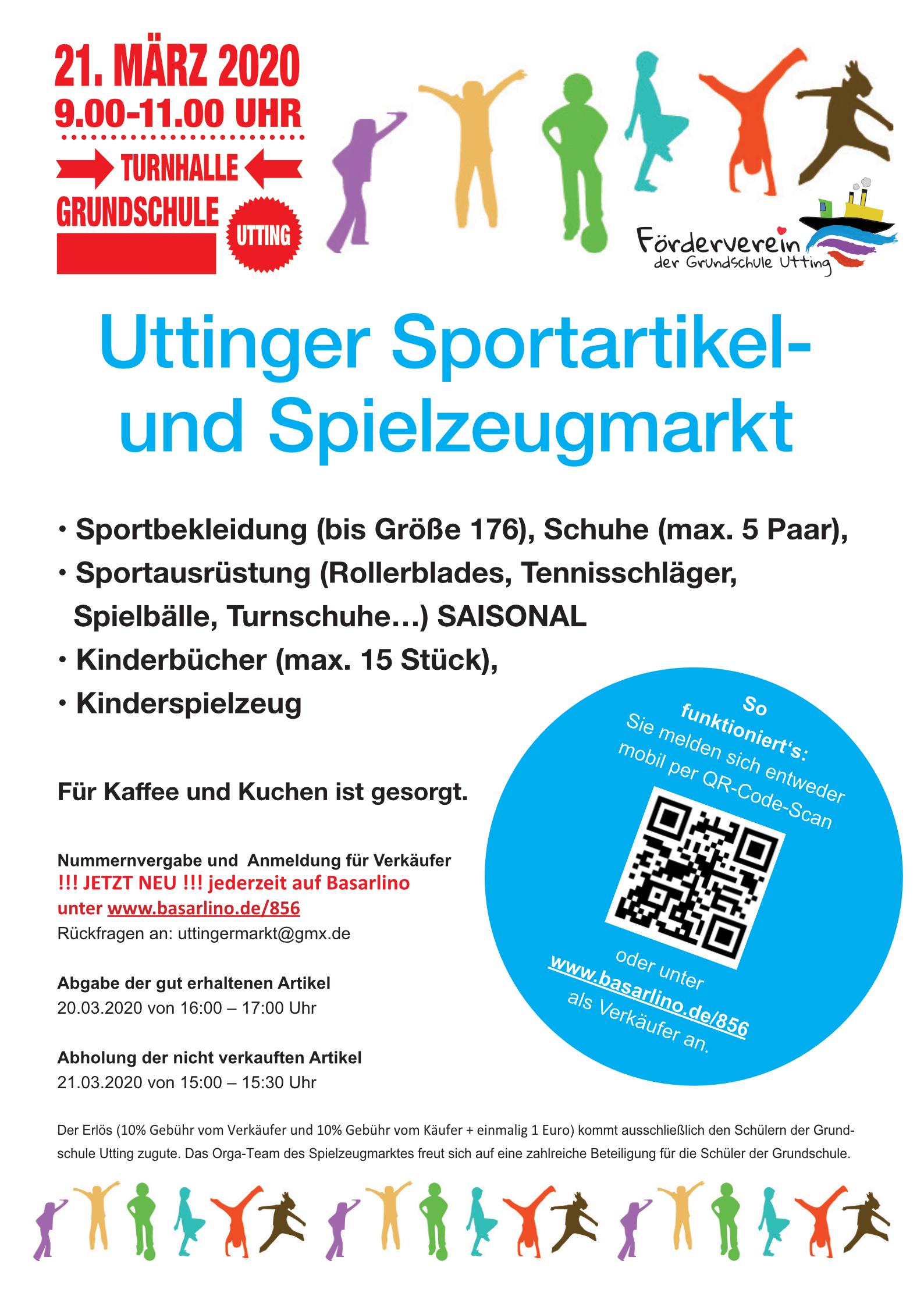 ABGESAGT: Uttinger Sportartikel  und Spielzeugmarkt am 21.03.2020